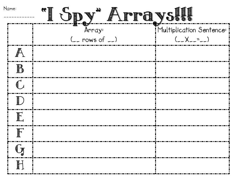 I Spy Arrays!
