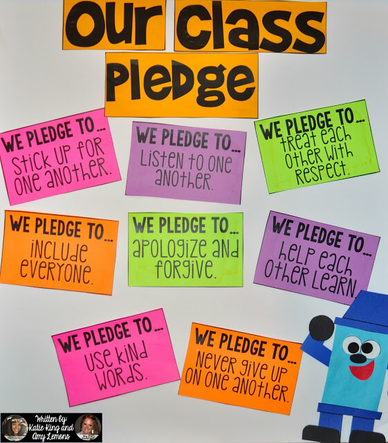 Classroom Pledge Ideas ~ Back to school book activities step into nd grade