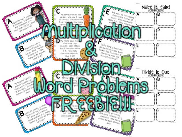 Multiplication and Division Freebies!