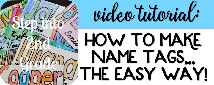 Video Tutorial: How to Make Name Tags