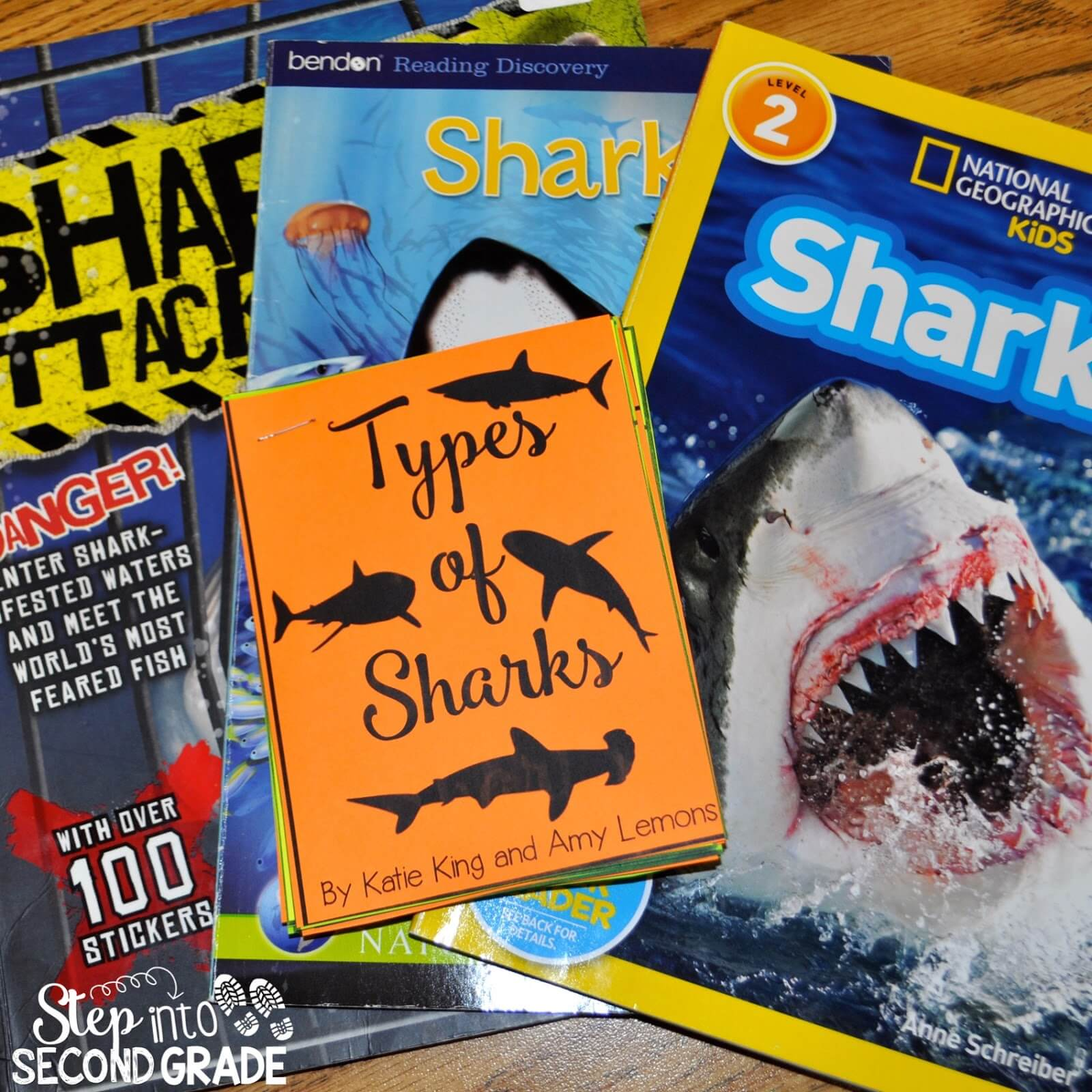 sharks part one step into 2nd grade