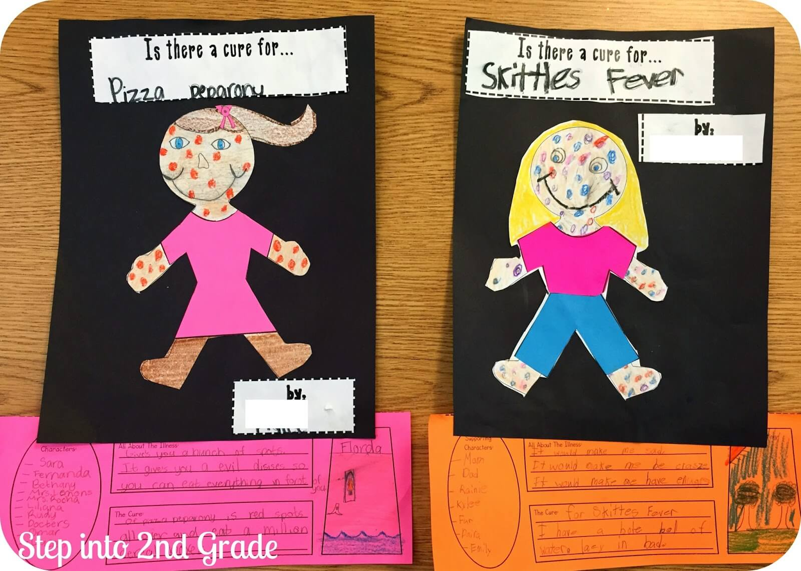 Uncategorized Chocolate Fever Worksheets chocolate fever fun step into 2nd grade after coming up with their very own they made cover and then a little snapshot of pretend book