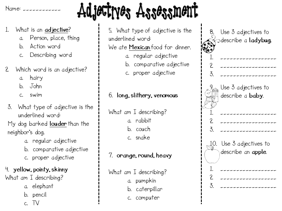Adjectives, continued! - Step into 2nd Grade