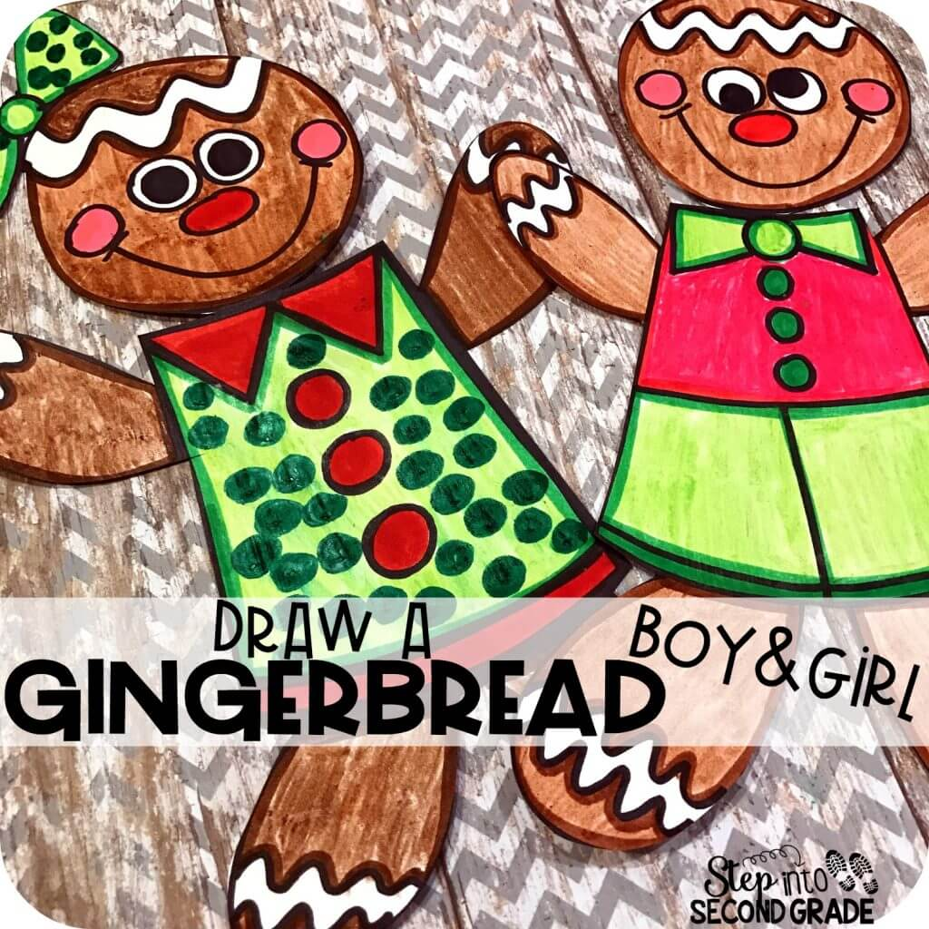 Draw a Gingerbread Boy and Girl!