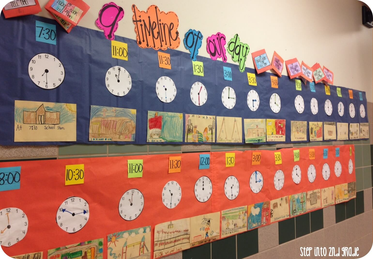 Worksheet Teaching Time To Second Graders its all about time step into 2nd grade on wednesday we reviewed a little bit more but only focused to the hour and half after practicing their individual clocks for a