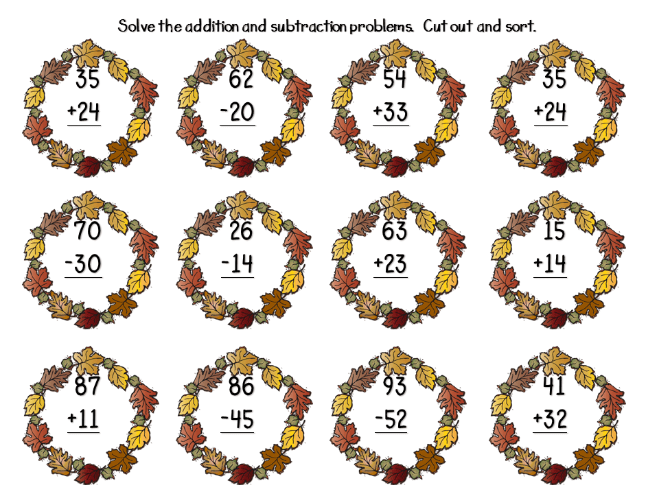 2 Digit Subtraction Without Regrouping FREEBIES - Step ...