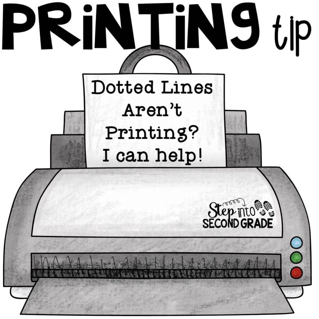 Printing Tip: Dotted Lines