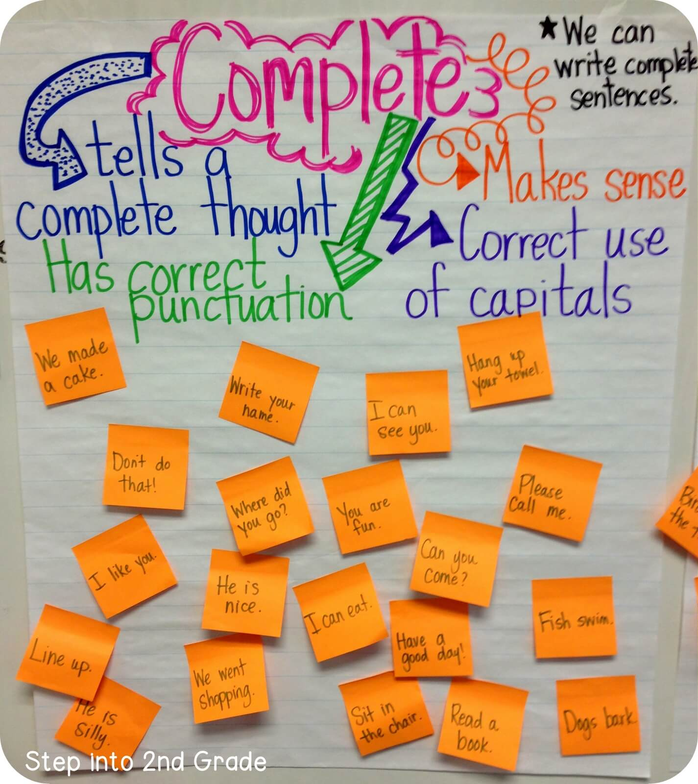 My week in pictures step into 2nd grade then my kiddos sorted sentences in their spirals we had to talk a lot about the fact that just because sentences are short doesnt mean they arent ccuart Image collections