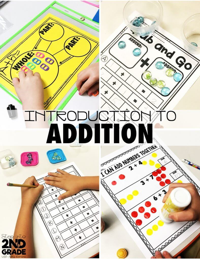 First Grade Addition:  With a CHANT FREEBIE!