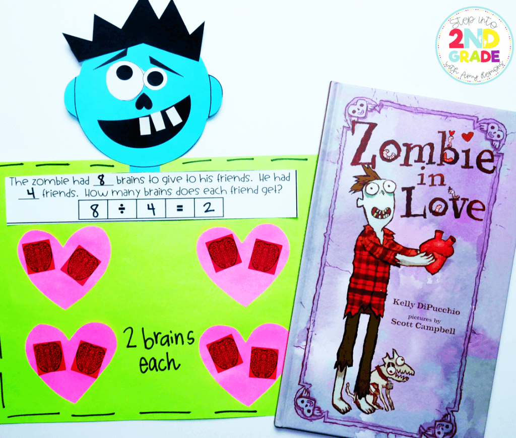 Zombies in Love {with math} - Step into 2nd Grade