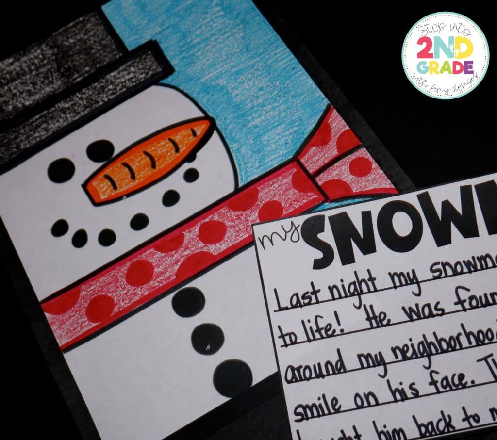FREE Snowman Directed Drawing!