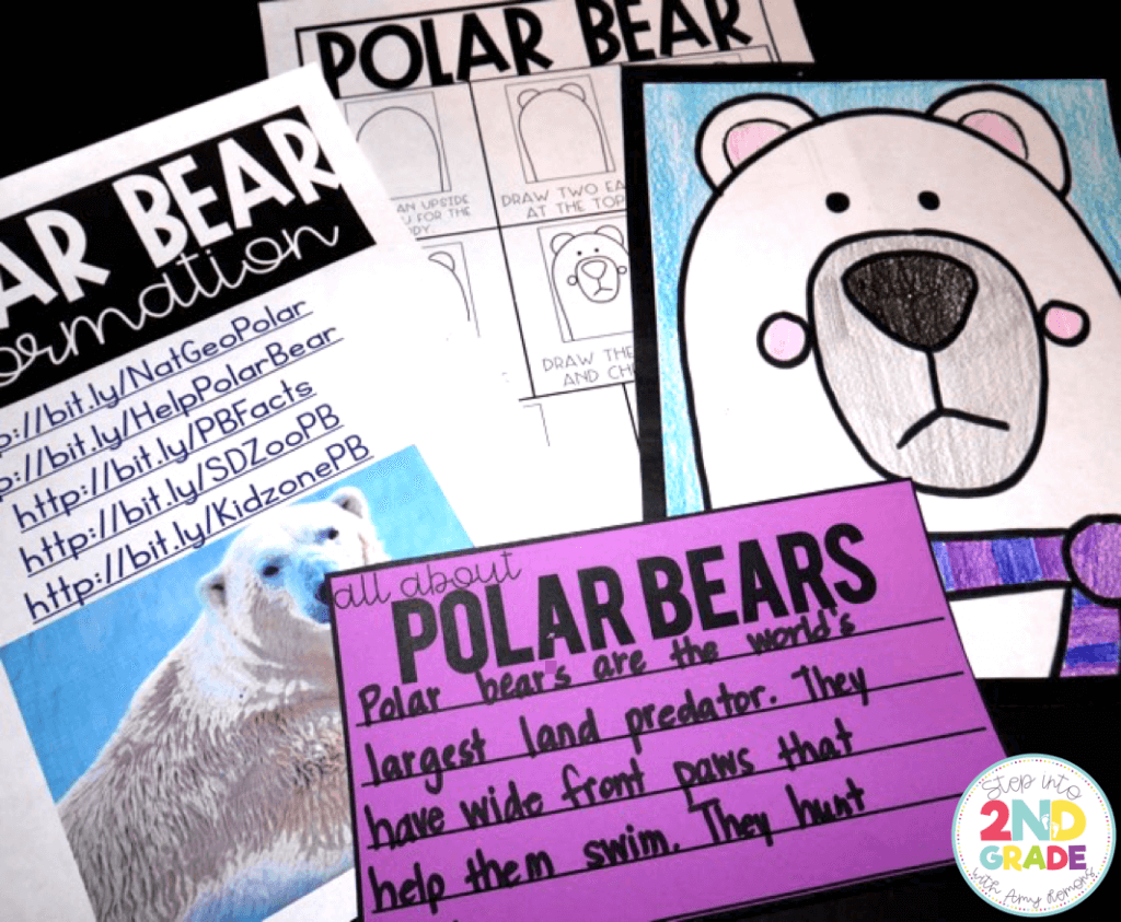 Reading in January AND a Polar Bear Directed Drawing