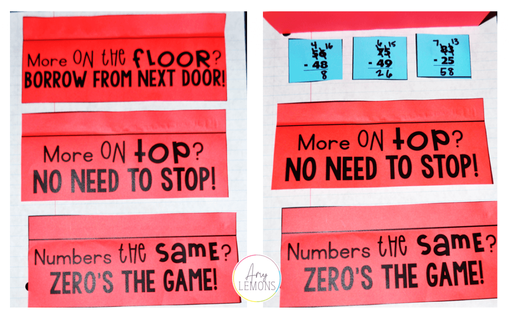 subtraction with regrouping printable